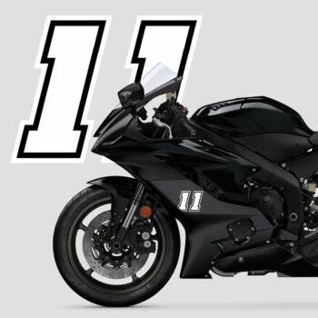 Numeri Race Moto GP bianchi esempio applicazione