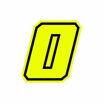 Numero zero Race Moto GP giallo fluo