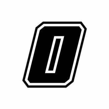 Numero zero Race Moto GP nero
