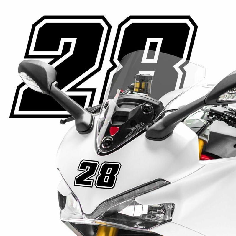 Numeri Race Moto GP neri esempio applicazione