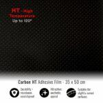 pellicola adesiva per wrapping carbonio high temperature