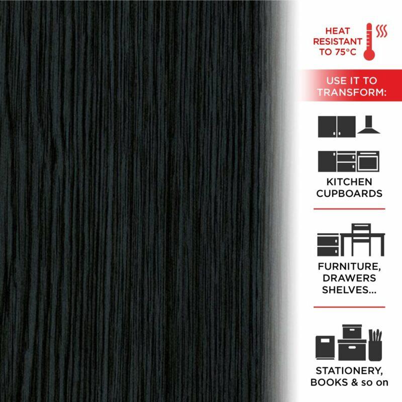 Pellicola Adesiva Effetto Blackwood 45 cm x 2 mt