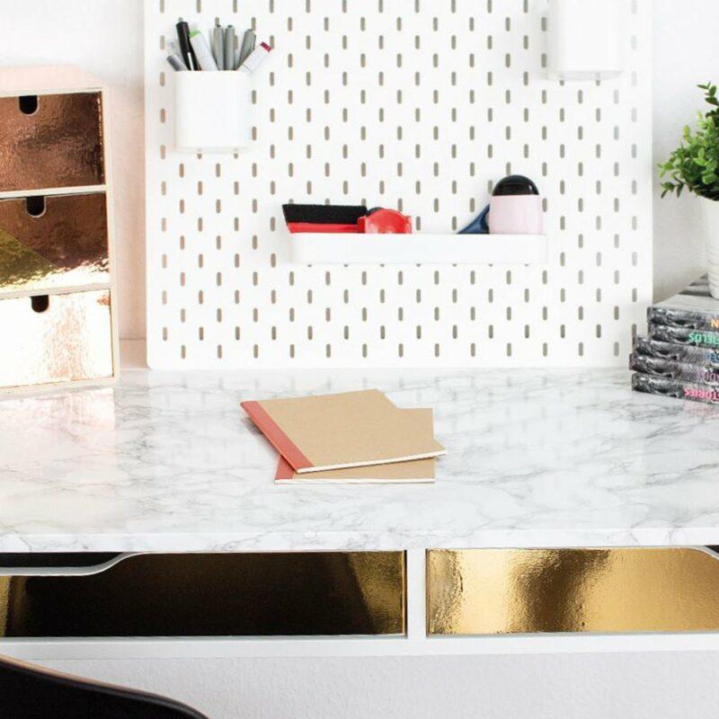Pellicola Adesiva Effetto Marmo Grigio 45 cm x 2 mt applicato