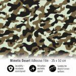 Pellicola adesiva per wrapping mimetic desert 35x50