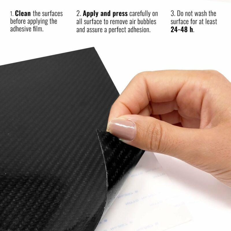 pellicola adesiva per wrapping carbonio vera fibra istruzioni applicazione