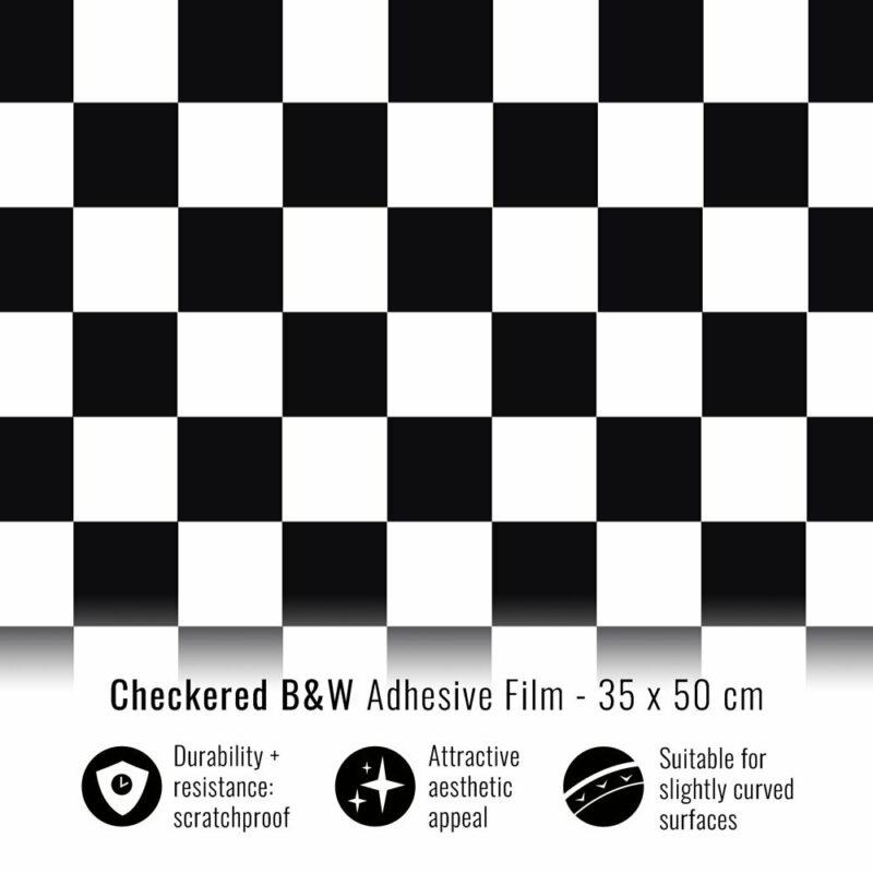 Pellicola adesiva scacchi bianco e nero