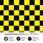 Pellicola adesiva scacchi giallo e nero