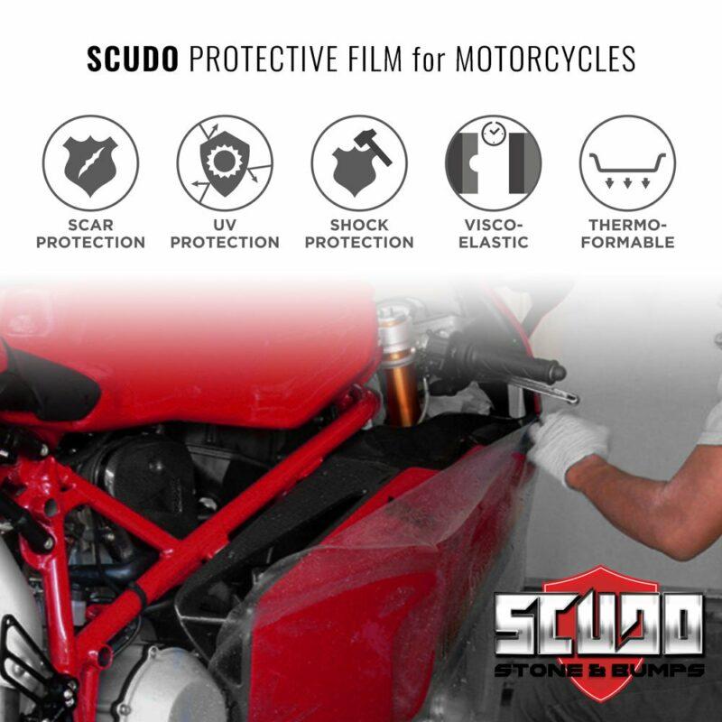 Pellicola Adesiva Scudo per Protezione Carene Moto, applicazione