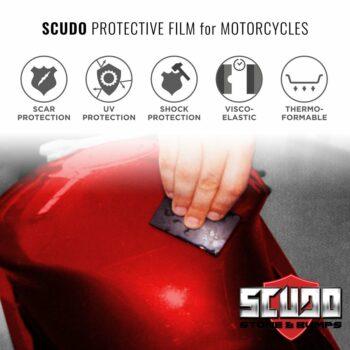 Kit Adesivo Protezione Carene Moto Scudo Tab applicazione