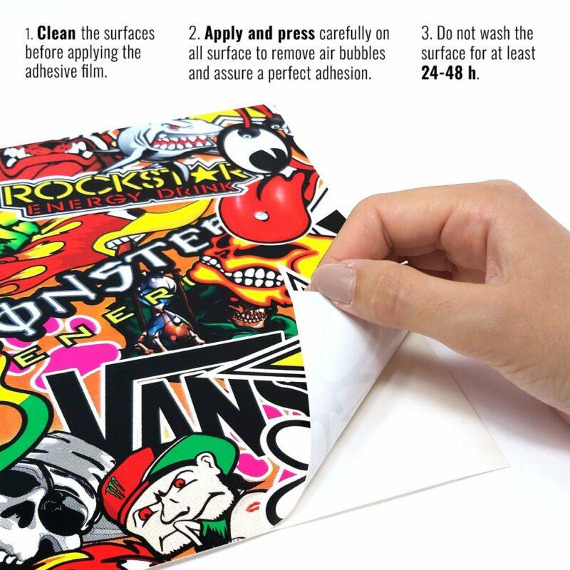 pellicola adesiva per wrapping sticker bomb istruzioni di applicazione