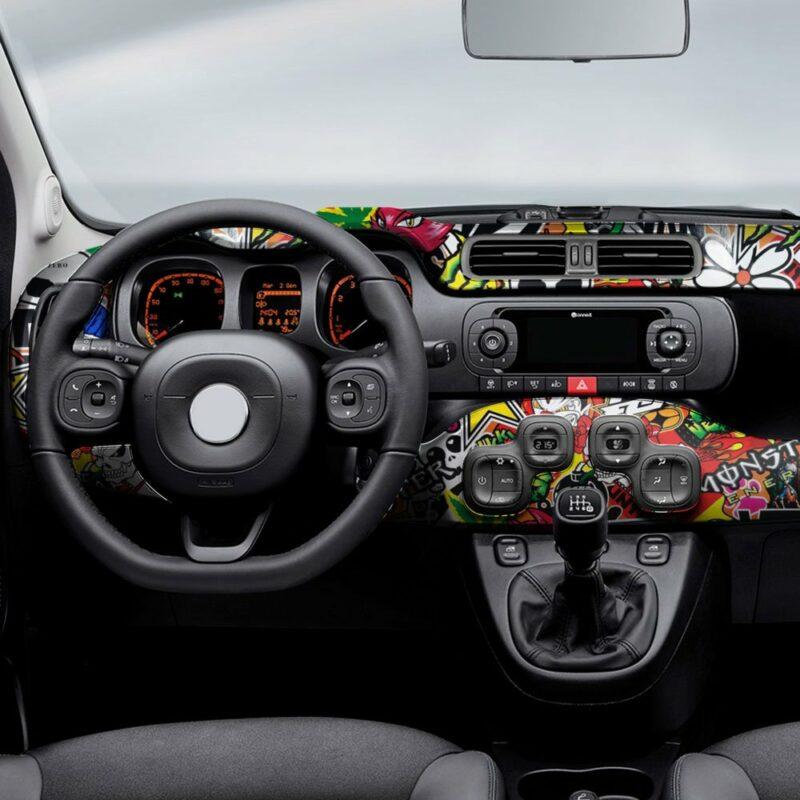 pellicola adesiva per wrapping sticker bomb applicazione interni auto