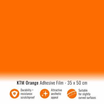Pellicola adesiva arancione ktm