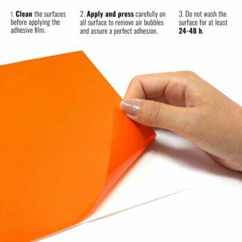 Pellicola adesiva arancione ktm istruzioni