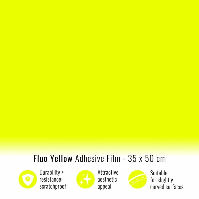 Pellicola adesiva giallo fluo