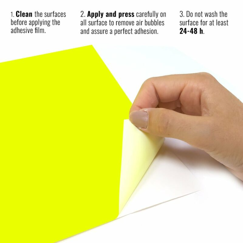 Pellicola adesiva giallo fluo istruzioni