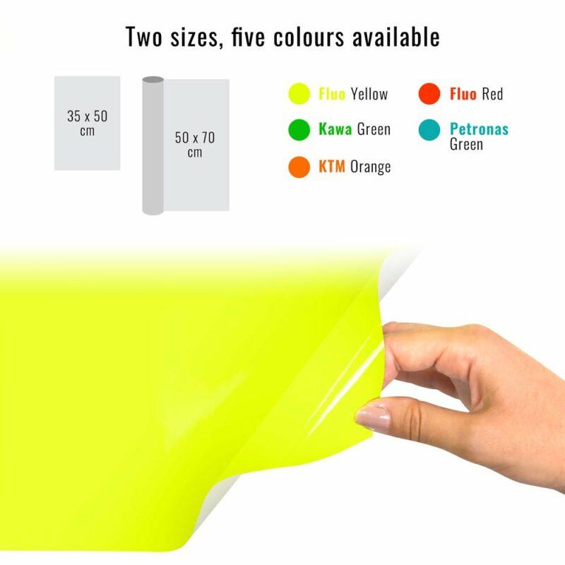 Pellicola adesiva giallo fluo dimensioni e colori