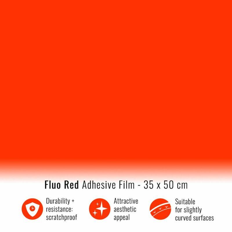 Pellicola adesiva rosso fluo