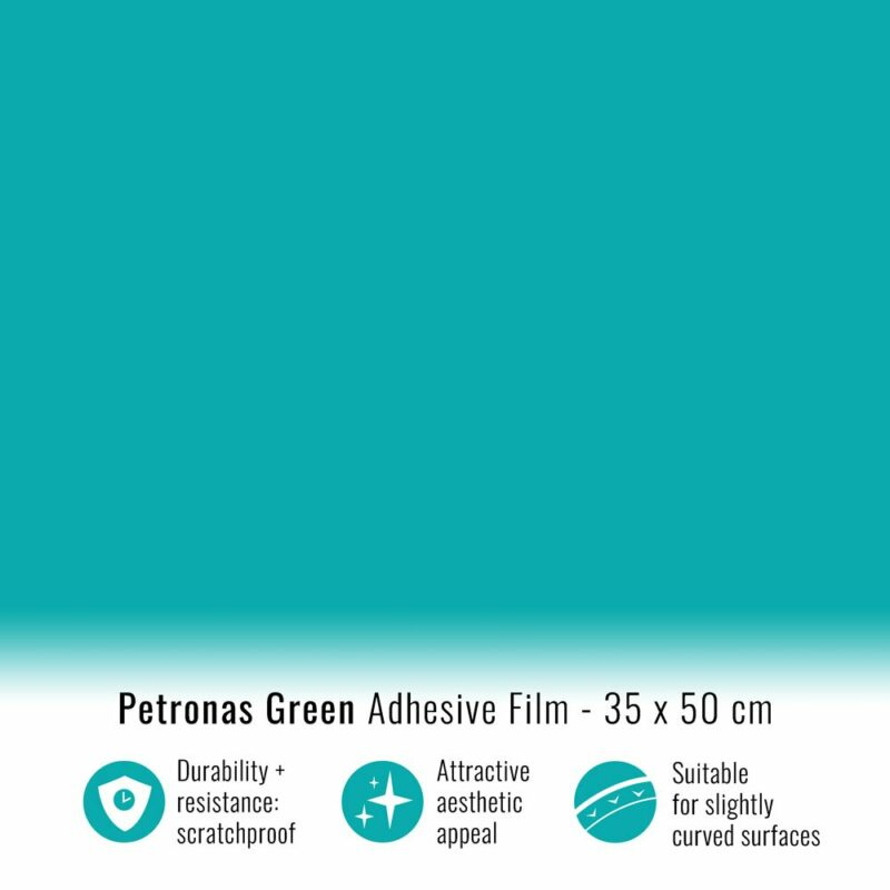 Pellicola adesiva verde petronas