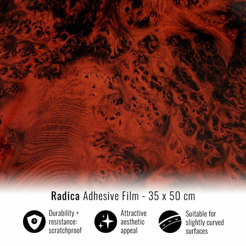 pellicola adesiva per wrapping radica