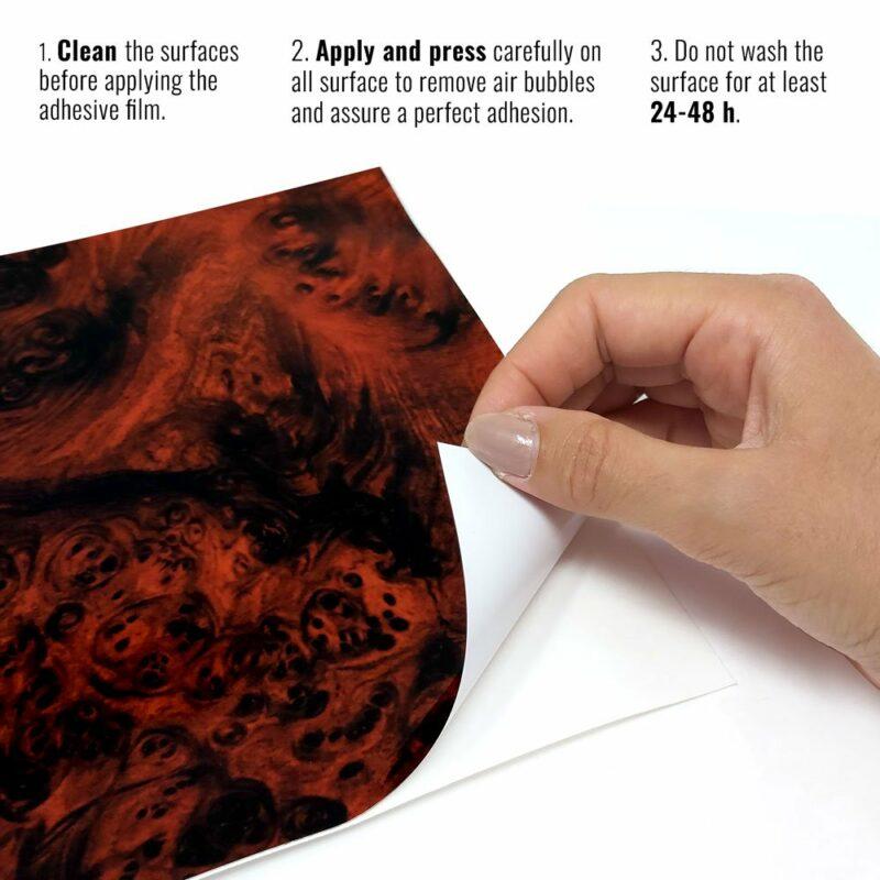 pellicola adesiva per wrapping radica istruzioni