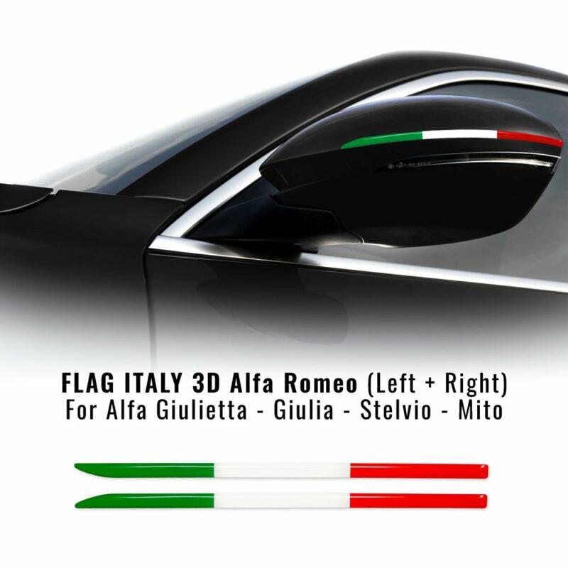 Bandierina 3D tricolore Italia per specchietti Alfa Romeo
