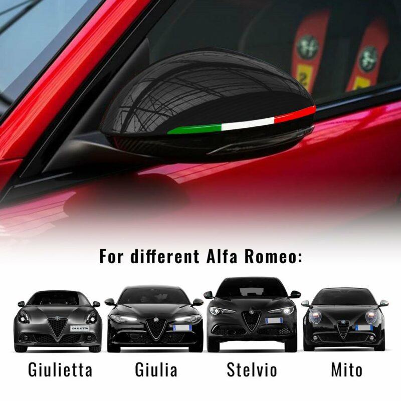 Bandierina 3D tricolore Italia per specchietti modelli compatibili