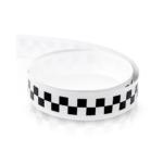 striscia adesiva scacchi 1,5 cm bianco nero per moto auto