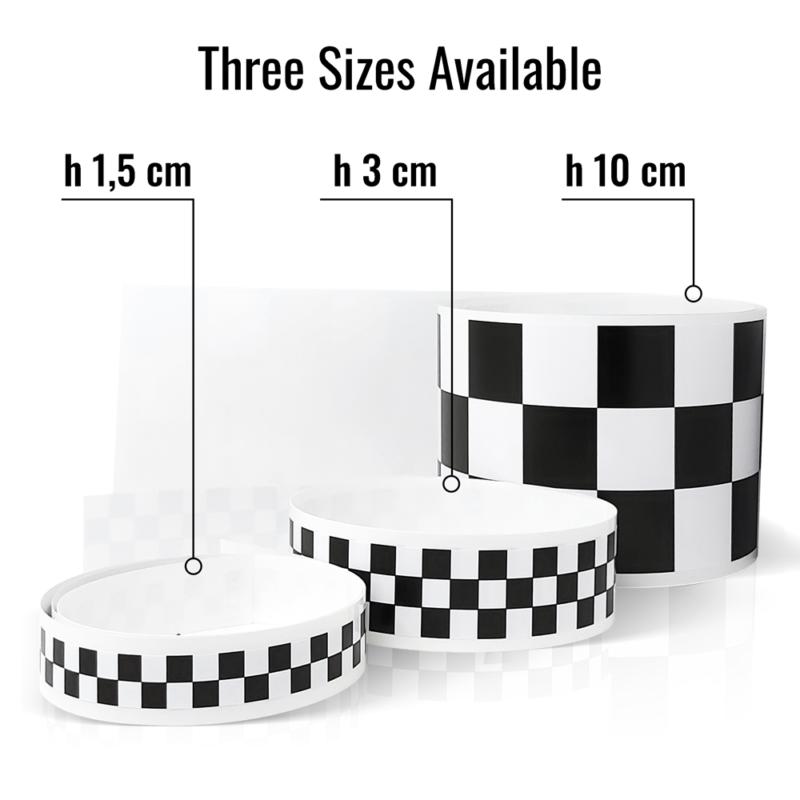 strsicia adesiva scacchi bianco nero per moto auto misure