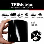 Trim Stripe Strisce Adesive per Auto, Nero, 100 mm