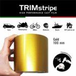 Trim Stripe Strisce Adesive per Auto, Oro, 100 mm