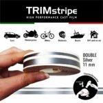 Trim Stripe Strisce Adesive per Auto, 2 Fili, Argento 11 mm