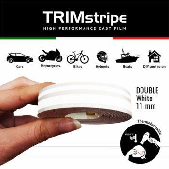 Trim Stripe Strisce Adesive per Auto, 2 Fili, Bianco