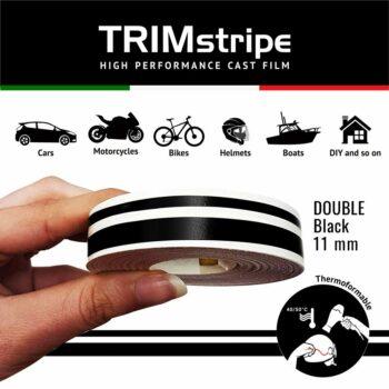 Trim Stripe Strisce Adesive per Auto, 2 Fili, Nero