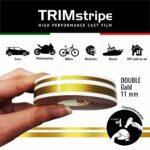 Trim Stripe Strisce Adesive per Auto, 2 Fili, Oro 11 mm