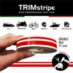 Trim Stripe Strisce Adesive per Auto, 2 Fili, Rosso