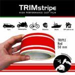 Trim Stripe Strisce Adesive per Auto, 3 Fili, Rosso 50 mm