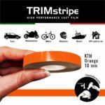 Trim Stripe Strisce Adesive per Auto, Arancio Ktm 10 mm