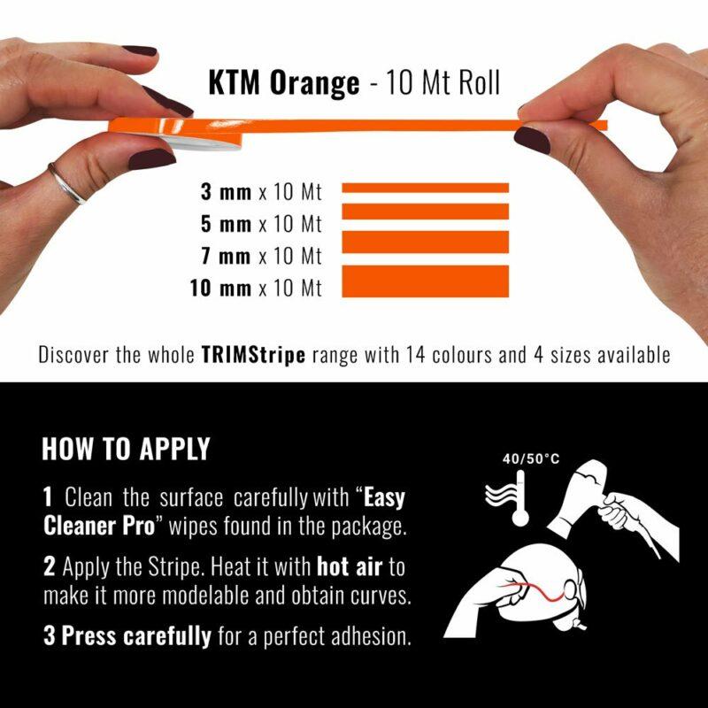 Trim Stripe Strisce Adesive per Auto, Arancio Ktm Gamma Misure Disponibili