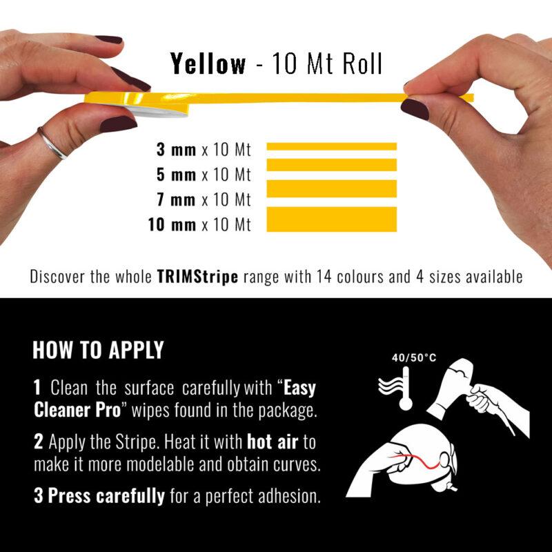 Trim Stripe giallo dimesnioni