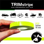 Trim Stripe Strisce Adesive per Auto, Fluo Giallo 10 mm
