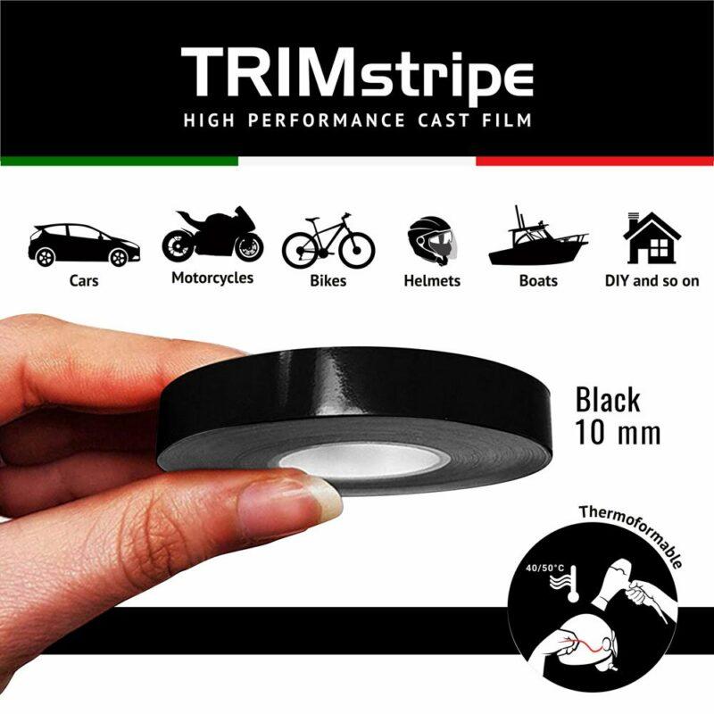 Trim Stripe Strisce Adesive per Auto, Nero 10 mm