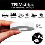Trim Stripe Strisce Adesive per Auto, Bianco 10 mm