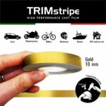 Trim Stripe Strisce Adesive per Auto, Oro 10 mm