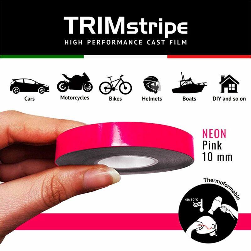 Trim Stripe Strisce Adesive per Auto, Fluo Fuxia 10 mm