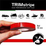 Trim Stripe Strisce Adesive per Auto, Rosso 10 mm