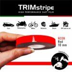 Trim Stripe Strisce Adesive per Auto, Fluo Rosso 10 mm