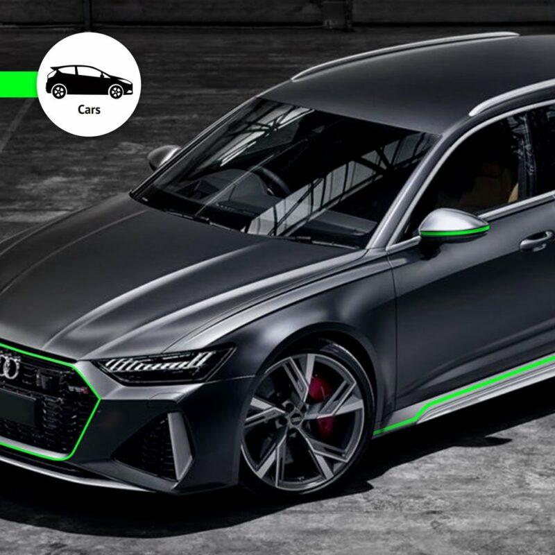 Trim Stripe Strisce Adesive per Auto, Verde Fluo Applicazione Auto