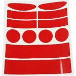 Kit Adesivi Rifrangenti per Bici rosso