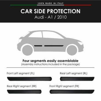 Modanature Laterali per Audi A1 2010 con Biadesivo 3M
