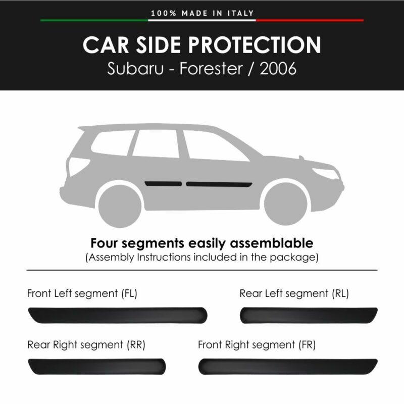 Modanature Laterali per Subaru Forester – 2006 con Biadesivo 3M